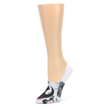 Image of White Black Rebel Sky Star Wars Women's No Show Liner Socks (side-2-09)