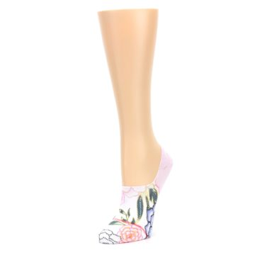 Image of Lilac Ice Posie Women's No Show Liner Socks (side-2-front-08)