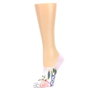 Image of Lilac Ice Posie Women's No Show Liner Socks (side-2-09)