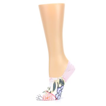 Image of Lilac Ice Posie Women's No Show Liner Socks (side-2-10)