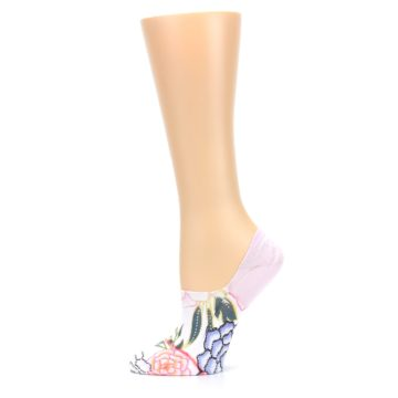 Image of Lilac Ice Posie Women's No Show Liner Socks (side-2-11)