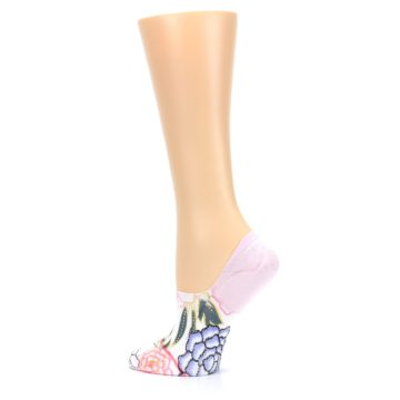 Image of Lilac Ice Posie Women's No Show Liner Socks (side-2-13)