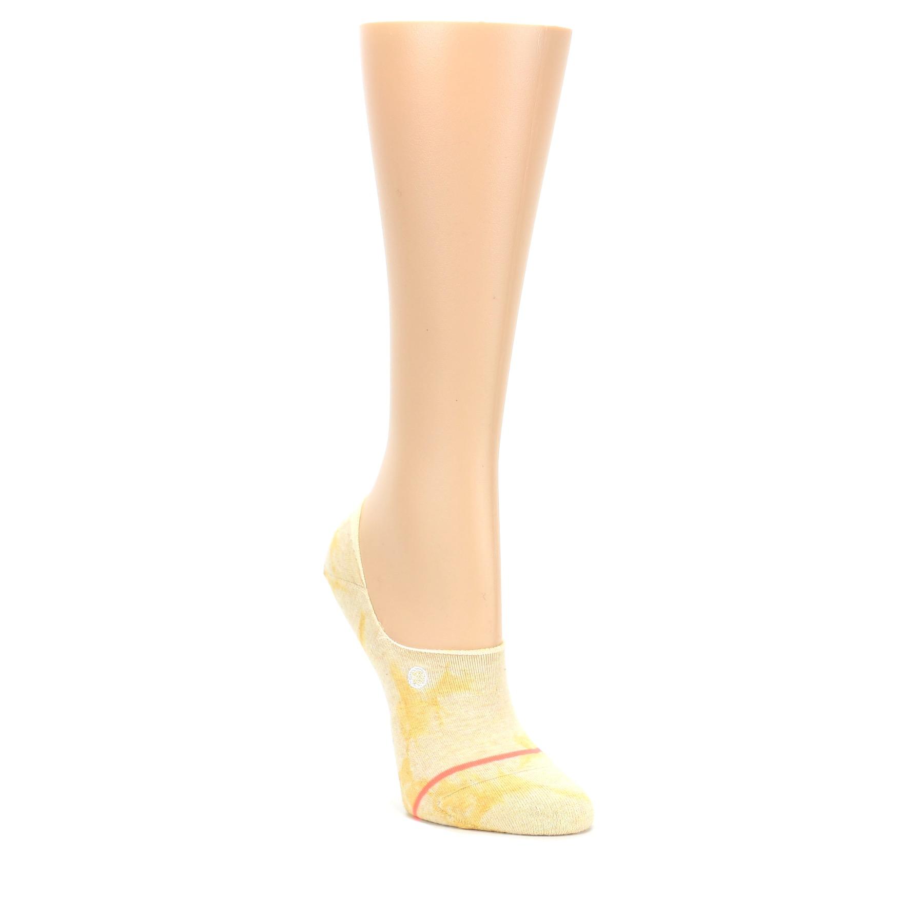 801fdeb5940 Yellow Tie Dye Women's No Show Liner Socks | boldSOCKS