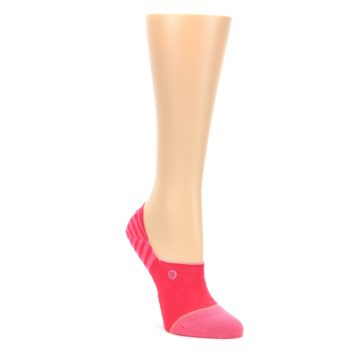 Image of Pink Stripes Women's No Show Liner Socks (side-1-front-01)