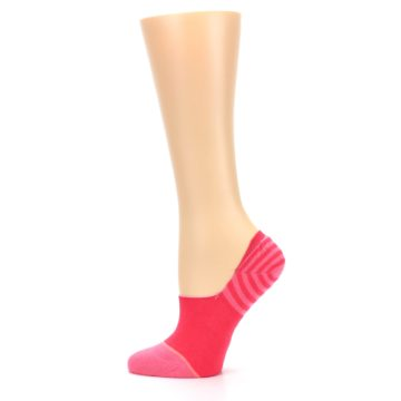 Image of Pink Stripes Women's No Show Liner Socks (side-2-12)