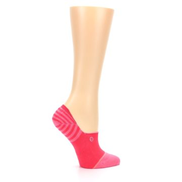 Image of Pink Stripes Women's No Show Liner Socks (side-1-24)