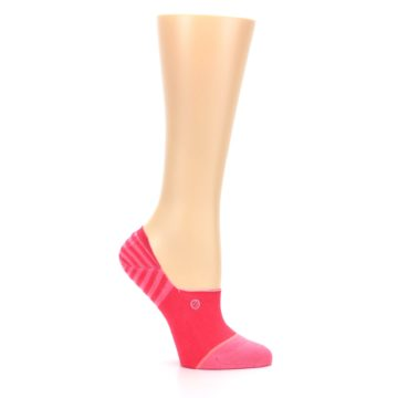 Image of Pink Stripes Women's No Show Liner Socks (side-1-25)