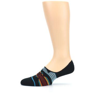 Image of Black Teal Tribal Pattern Men's No Show Liner Socks (side-2-11)