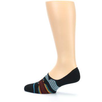 Image of Black Teal Tribal Pattern Men's No Show Liner Socks (side-2-13)