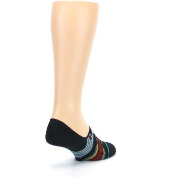 Image of Black Teal Tribal Pattern Men's No Show Liner Socks (side-1-back-21)