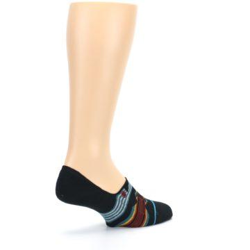 Image of Black Teal Tribal Pattern Men's No Show Liner Socks (side-1-back-22)