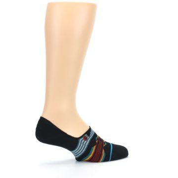Image of Black Teal Tribal Pattern Men's No Show Liner Socks (side-1-23)