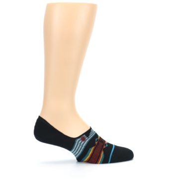 Image of Black Teal Tribal Pattern Men's No Show Liner Socks (side-1-24)