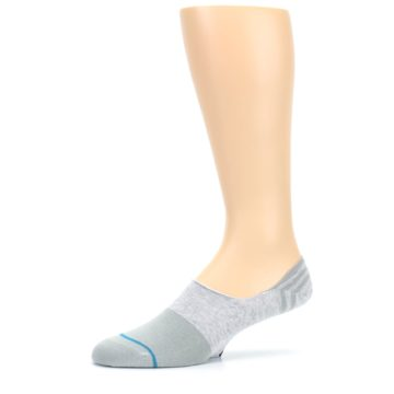 Image of Gray Gamut Men's No Show Liner Socks (side-2-10)