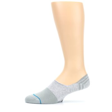 Image of Gray Gamut Men's No Show Liner Socks (side-2-11)