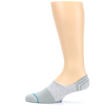 Image of Gray Gamut Men's No Show Liner Socks (side-2-12)