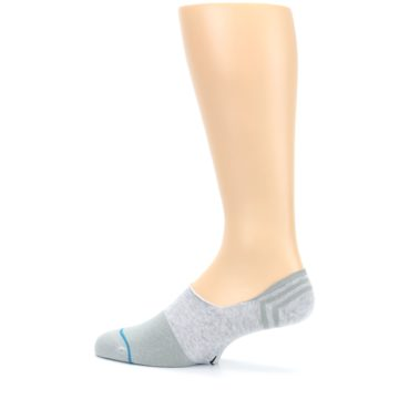 Image of Gray Gamut Men's No Show Liner Socks (side-2-13)