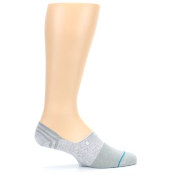 Image of Gray Gamut Men's No Show Liner Socks (side-1-24)