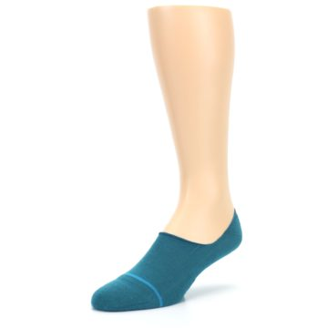 Image of Teal Gamut Men's No Show Liner Socks (side-2-front-08)