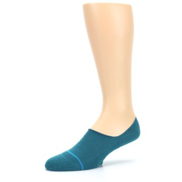 Image of Teal Gamut Men's No Show Liner Socks (side-2-09)
