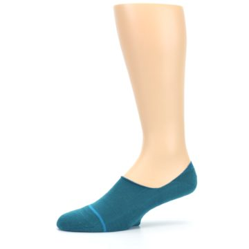 Image of Teal Gamut Men's No Show Liner Socks (side-2-10)