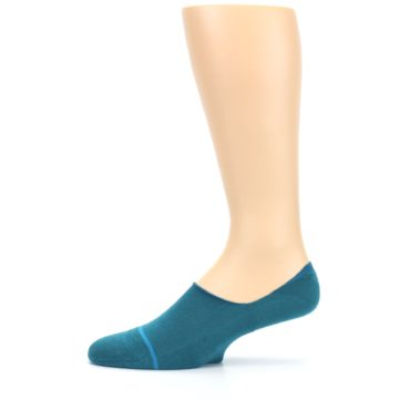 Image of Teal Gamut Men's No Show Liner Socks (side-2-11)