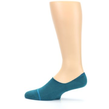 Image of Teal Gamut Men's No Show Liner Socks (side-2-12)