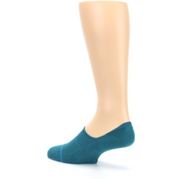Image of Teal Gamut Men's No Show Liner Socks (side-2-back-14)