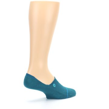 Image of Teal Gamut Men's No Show Liner Socks (side-1-back-22)