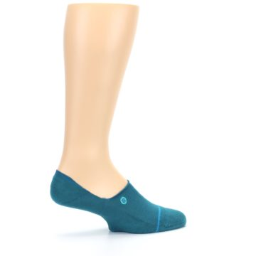 Image of Teal Gamut Men's No Show Liner Socks (side-1-23)