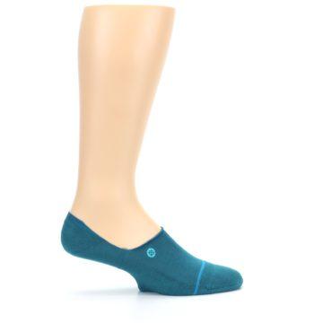 Image of Teal Gamut Men's No Show Liner Socks (side-1-24)