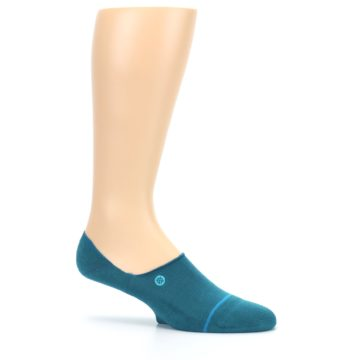 Image of Teal Gamut Men's No Show Liner Socks (side-1-25)