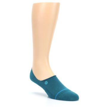 Image of Teal Gamut Men's No Show Liner Socks (side-1-27)