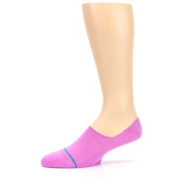 Image of Pink Gamut Men's No Show Liner Socks (side-2-10)