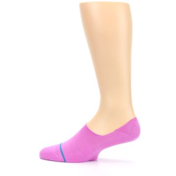Image of Pink Gamut Men's No Show Liner Socks (side-2-12)