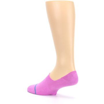 Image of Pink Gamut Men's No Show Liner Socks (side-2-back-14)