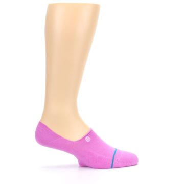 Image of Pink Gamut Men's No Show Liner Socks (side-1-24)