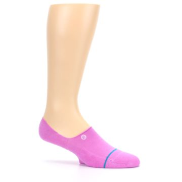 Image of Pink Gamut Men's No Show Liner Socks (side-1-25)