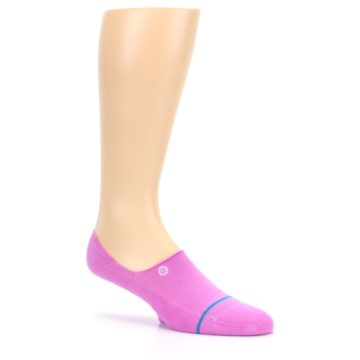 Image of Pink Gamut Men's No Show Liner Socks (side-1-26)