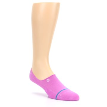 Image of Pink Gamut Men's No Show Liner Socks (side-1-27)
