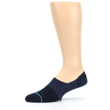 Image of Navy Gamut Men's No Show Liner Socks (side-2-10)