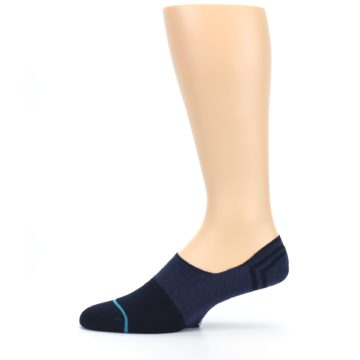Image of Navy Gamut Men's No Show Liner Socks (side-2-11)