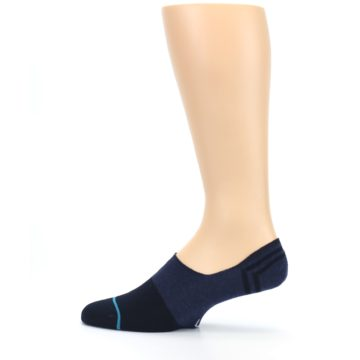 Image of Navy Gamut Men's No Show Liner Socks (side-2-12)
