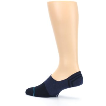 Image of Navy Gamut Men's No Show Liner Socks (side-2-13)