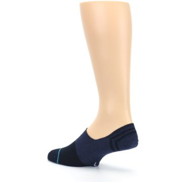 Image of Navy Gamut Men's No Show Liner Socks (side-2-back-14)