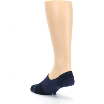 Image of Navy Gamut Men's No Show Liner Socks (side-2-back-15)