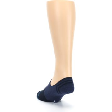 Image of Navy Gamut Men's No Show Liner Socks (side-2-back-16)