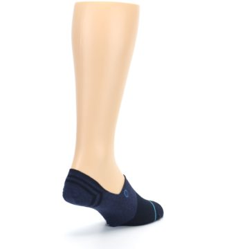 Image of Navy Gamut Men's No Show Liner Socks (side-1-back-21)