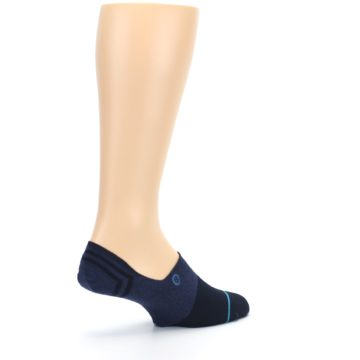 Image of Navy Gamut Men's No Show Liner Socks (side-1-back-22)