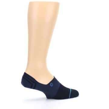 Image of Navy Gamut Men's No Show Liner Socks (side-1-23)